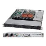 Supermicro SC815 TQ-R700UB - Rack-mountable - 1U - extended ATX - SATA/SAS - hot-swap 700 Watt - black