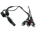 Optoma Universal (24 pin) to RCA (Component + Audio L/R) 0.3 m for PK201/PK301 BC-PK3ACRY