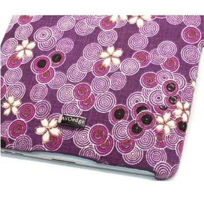 JAVOedge Cherry Blossom Back Cover for Apple iPad - Purple (PLEA-91254-C19)