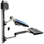 LX Wall Mount System with Small CPU Holder (Polished Aluminum Arms, Black CPU Holder)