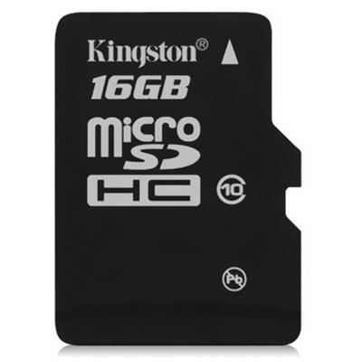 Kingston Digital 16GB Class 4 microSDHC Memory Card (SDC4/16GBSP)