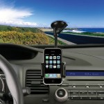 Universal Windshield/Vent Car Mount for Smartphones - Black