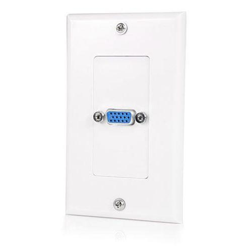 StarTech Single Outlet 15-Pin Female VGA Wall Plate - White