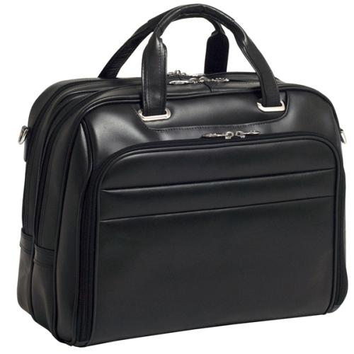 "Mcklein Company Leather Fly-Through Checkpoint-Friendly 17"" Laptop Case"