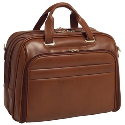 Mcklein Company Leather Fly-Through Checkpoint-Friendly 17