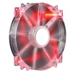Cooler Master MegaFlow 200 - Case fan - 200 mm - red R4-LUS-07AR-GP