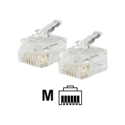 Cables To Go Modular Plug - network connector - clear