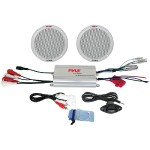 Pyle 2 Channel Waterproof MP3/iPod Amplified 6.5'' Marine Speaker System PLMRKT2A