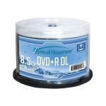 Optical Quantum - 50 x DVD+R DL - 8.5 GB 8x - white - ink jet printable surface, printable inner hub - spindle