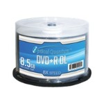 VinpowerDigital Optical Quantum Silver Top - 50 x DVD+R DL - 8.5 GB 8x - silver - spindle OQDPRDL08NPS