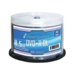 Optical Quantum White Thermal Hub Printable - 50 x DVD+R DL - 8.5 GB 8x - white - printable inner hub - spindle