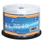 8x 8.5GB White Inkjet Hub Printable DVD+R DL 50-Pack Disc