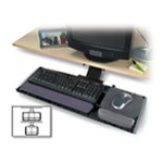 Underdesk Adjustable Keyboard Platform - Keyboard and mouse platform with wrist pillow