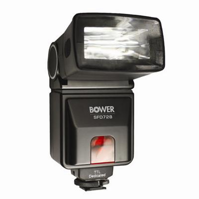 BowerSFD728C TTL Zoom Shoe Mount Flash (Guide No. 92'/28 m at 50mm) for Canon EOS E-TTL II(SFD728C)