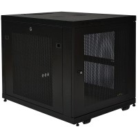 "TrippLite 12U Rack Enclosure Server Cabinet Doors & Sides 300lb Capacity - Rack - cabinet - black - 12U - 19"" SR12UB"