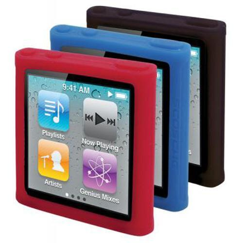 Scosche TightGrip T6 - Dark 3 Pack of Silicone Skins for iPod nano Gen 6