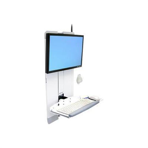 PCM | Ergotron, StyleView Vertical Lift, Patient Room - Mounting kit  (keyboard shelf, wrist rest, mouse pouch, panel vertical lift) for LCD  display /