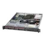 Supermicro SC811 TQ-350B - Rack-mountable - 1U - ATX - SATA/SAS - hot-swap 350 Watt - black - USB