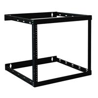 TrippLite Wall Mount 2-Post Open Frame Rack Cabinet 8U / 14U / 22U - Rack - open frame - 2-post - wall mountable - black powder coat - 22U SRWO8U22