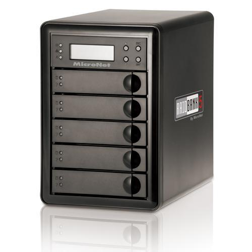 Micronet RAIDBANK5 5-Bay 5TB SATA Quad Encrypted Hardware RAID with USB 3.0 - USB 3.0 SUPERSPEED