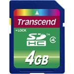 Flash memory card - 4 GB - Class 4 - SDHC