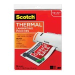 3M Thermal Pouches, Letter Size  9 in x 11.4 in 20/pack TP3854-20