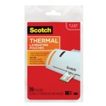 Scotch Thermal Laminating Pouches Business Card 2.36in x 3.74in 20/pack