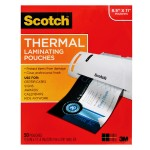3M Thermal Pouches, Letter Size  9 in x 11.4 in 50/pack TP3854-50