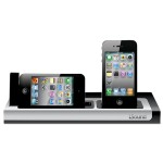 Power View Charging Station for iPod and iPhone - Black/Silver