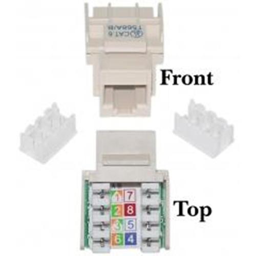 PCM | Micro Connectors, CAT 6 RJ45 Keystone Jack - Beige, FRT-840