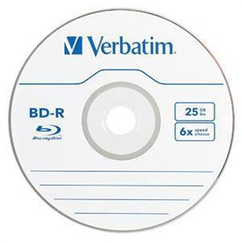 Verbatim Blu-Ray Recordable BD-R 25GB 6X 25pk Spindle