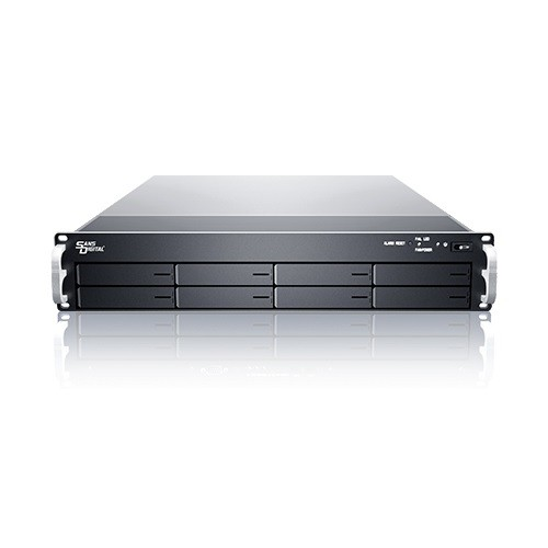 Sans Digital EliteSTOR ES208X6+B - 2U 8 Bay 6G SAS/SATA to SAS JBOD with SAS Expander Rackmount