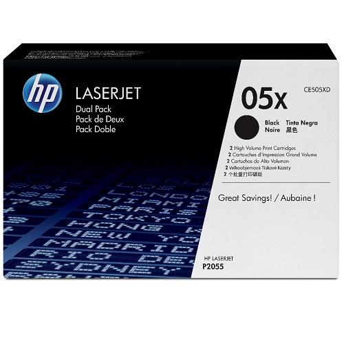 HP LaserJet CE505X Dual Pack Black Print Cartridges