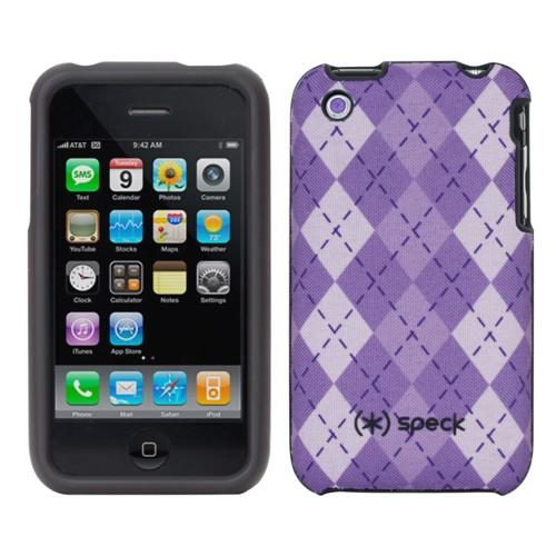 Speck Products Fitted for iPhone 3G/3G - Lavender/Purple Argyle