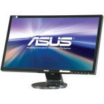 "ASUS VE248H - LED monitor - 24"" - 1920 x 1080 Full HD - 250 cd/m² - 2 ms - HDMI, DVI-D, VGA - speakers - black VE248H"