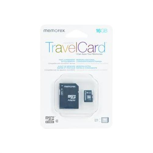Memorex TravelCard - flash memory card - 16 GB - SDHC
