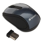 Verbatim Wireless Mini Travel Mouse - Mouse - optical - wireless - 2.4 GHz - USB wireless receiver - graphite 97470