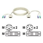ServSwitch Server Cable - Keyboard / video / mouse (KVM) cable - 6 pin PS/2, DVI-D (M) to 6 pin PS/2, DVI-D (M) - 10 ft