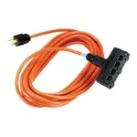 Indoor/Outdoor Utility Cord Heavy-Duty - Power splitter - NEMA 5-15 (M) to NEMA 5-15 (F) - 15 ft - indoor, outdoor - orange