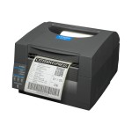 Citizen CL-S521 - Label printer - thermal paper - Roll (4.65 in) - 203 dpi - up to 360 inch/min - USB, LAN, serial CL-S521-E-GRY