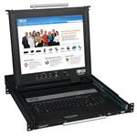 TrippLite 1U Rack-Mount Console with 17-in. LCD, Dual Rail B021-02R-17
