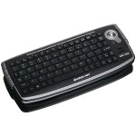 Iogear 2.4GHz Wireless Compact Keyboard with Optical Trackball and Scroll Wheel GKM681R