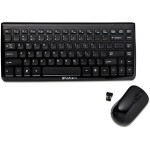Mini Wireless Slim Keyboard and Mouse - Black