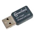 Syba Multimedia Connectland Wireless 802.11 b/g/n USB Adapter - Network adapter - USB 2.0 - 802.11b, 802.11g, 802.11n (draft) CL-ADA24004