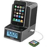 Dual Alarm Stereo Clock Radio for your iPad/iPhone/iPod with FM Preset Station Memory