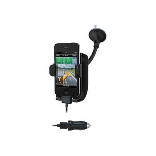 Kensington SoundWave Power Sound Amplifying Car Mount and Charger - car holder/charger
