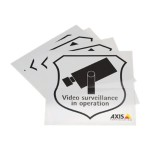 Axis Surveillance Sticker - Stickers (pack of 10 ) 5502-811