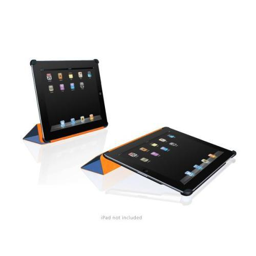 MacAlly Peripherals Microfiber Cover & Stand for iPad 2 - Blue - Compatible with Apple Smartcover
