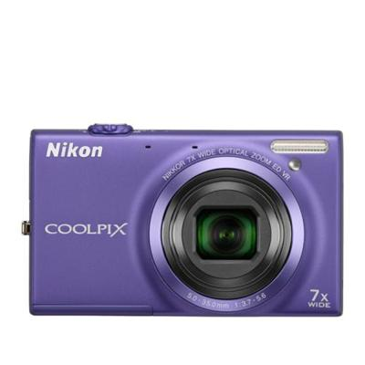 NikonCoolpix S6100 16MP Digital Camera - Violet(26272)