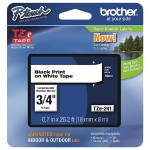 Brother TZe241 - Laminated tape - black on white - Roll (0.7 in x 26.3 ft) 1 roll(s) - for P-Touch PT-3600, D400, D600, E500, E550, H101, H500, P700, P750; P-Touch EDGE PT-P750 TZE241